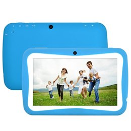 "Wholesale Russian Cables - 7"" Tablet PC Android 4.4 KitKat A9 X 2 for Education Kids Children Quad Core 8GB Camera Free Shipping"