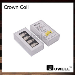 Ohm doppia bobina online-Uwell Crown Tank Sub ohm doppio bobine 0.25ohm 0.5ohm 1.2ohm Single Coil 0.15ohm Ni200 TC bobine corona ricambio bobina testa 100% originale