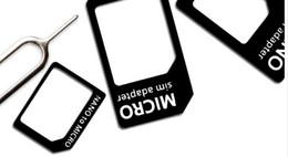 Canada Vente en gros-100pcs: adaptateur de carte 4in1 Noosy Nano Sim + adaptateur de cartes Micro Sim + adaptateur de carte SIM standard avec broche d'éjection pour Iphone samsung cheap nano sim card eject Offre