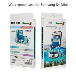 Wholesale Galaxy S4 Waterproof Shock Dirt - Waterproof Case For iPhone 5 5s 6 6s plus Samsung Galaxy S4 mini Water Shock proof Case Retail Packagage 100% genuine