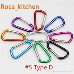 Perchas online-# 4 # 5 mosquetón broche de presión gancho llavero Senderismo acampar colorido de aluminio de primavera mosquetón anillo