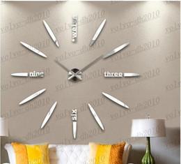 Wholesale oversized art - Free Shipping New oversized watch wall creative diy modern art wall clock personalized background wall mute clocks LLFA2882F