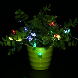 Wholesale butterfly string decorations - Wholesale- ICOCO 5M 50LED 3AA Battery Box Power Butterfly Shape Home String Light Party Festival Wedding Party Decoration String Light