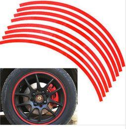 "Wholesale Car Body Stripes - Best price 16 Strips 14-18"" Wheel Reflective Car Motorcycle Rim Sticker,WHEEL Rim Stripe Decal sticker"