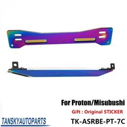 Wholesale Mitsubishi Lower Control Arms - Tansky - Aluminum Neochrome Jdm ASR Rear Suspension Subframe Brace + Lower Tie Bar For Mitsubishi Proton Wira Evo1-3 TK-ASRBE-PT-7C
