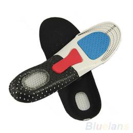 Plantillas de zapatos para correr online-Tamaño libre Unisex Orthotic Arch Support Shoe Pad Sport Correr plantillas de gel Inserte Cojín para Hombres Mujeres 08NS