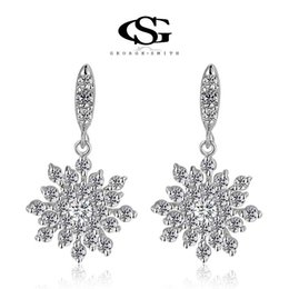 Wholesale Studs Jacket Men - 015 G&Sparty jewelry Gift Classic Genuine Austrian Crystals Fashion Jackets Earrings 100% Man-made Flowers Flower Eearring