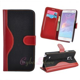 Wholesale Lace For Cards - For Galaxy Note 4 Hybrid Lace Retro Leather Cover Flip Wallet Case Stand With Card Slots For Samsung Note4 N9100
