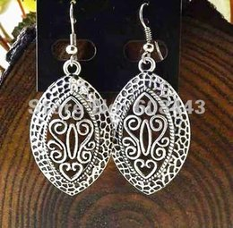 Wholesale Vintage Style Chandelier Earrings - ER208 Tibetan Gypsy French Royal Style Silver Plated fashion vintage drop dangle wholesale earrings Jewelry