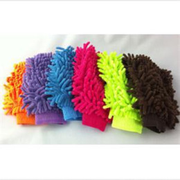 Wholesale Dust Mitts - New Personality Double Sided Mitt Microfiber Car Auto Dust Washing Cleaning Glove Towel