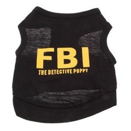Wholesale Assorted Clothing Wholesale - NEW Stylish FBI The Detective Puppy Cotton Vest for Pets Dogs (Assorted Sizes) ,Dog Clothes,Dog Shirt,Dog dress, ,pet