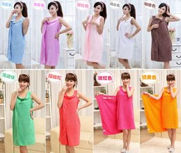 Wholesale Ms Wear - Bath towel changed towels creative bath towel condole skirts to wear magic Ms strapless bowknot bath with skirt