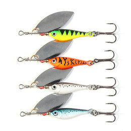 Wholesale Metal Vib Bait - New Metal Spinnerbait fishing gear 20g 9cm VIB Spinner bait Fly fishing lures 4colors BASS Spinnerbaits