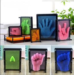 Empreintes digitales en plastique en Ligne-Bricolage Main Moule Clone D'empreintes Digitales Forme Broche Art Aiguille En Plastique Coloré Jouets Drôle Blagues Jouets 3D Anti-stress Clone D'empreintes Digitales Aiguille KKA3187