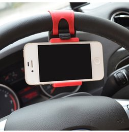 Wholesale Ipad Wheel - Suporte Para Celular Carro Universal Car Steering Wheel Mobile Phone Holder for iPhone 4S 5 5S 5C Galaxy S4 S5 GPS MP4 PDA