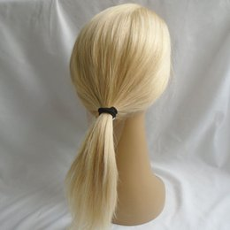 Wholesale Cheap Human Hair Blonde Wigs - 613 Lace Front Human Hair Wigs With Baby Hair Cheap Blonde Straight Peruvian Virgin Hair Glueless Full Lace Wigs Natural Hairline