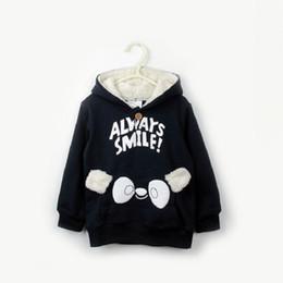 Wholesale Velvet Dress Boys - Korean children dress baby girls and boys sweater in spring and autumn new lamb plus velvet Hooded Jacket Shirt tide