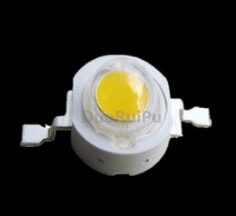 Wholesale High Power Led Chip 1w - Free shipping 100PCS 1W 3w High power LED Lamps white6000-6500K  warm white 3000-3200K 30mil 45mil Chips high light lights