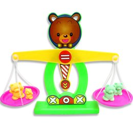 Wholesale Cartoon Babies Numbers - Toys education Bear Brains Balance Scales toy numbers intelligence Baby Early Learning kids children toy 1pc Free shipping