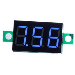 Wholesale Led Display Panel Dc Voltage - New Electronic Components Mini DC 0.1-30V Blue LED Display Digital Voltage Voltmeter Panel Motorcycle VE435 W0.5 SYSR