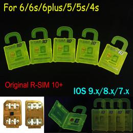 Wholesale Unlocked Softbank - Newest Original R-SIM 10+ rsim10 RSIM 10+ Thin sim Card unlocking Ios9.X 8.X 7.X For iPhone 4S 5s 5 6 6s Sprint AU Softbank s direct use