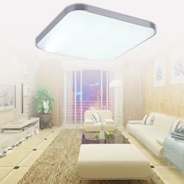 Wholesale Modern Ceiling Light Rectangular - Modern LED Ceiling Lights Warm White Alloy&PAMMA Acrylic BedRoom Living Room Lamp Lighting Study Rectangular Restaurant Room Lighting