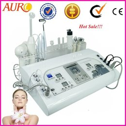 Wholesale High Frequency Galvanic Machine - AU-8208 Profession galvanic facial machine vacuum & spray 8 in 1 high frequency ultrasonic cautery machine for sale