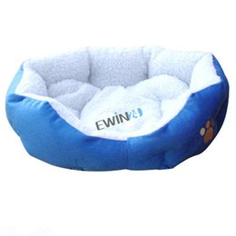 Wholesale Puppy Blue Beds - New Small Soft Indoor Pets Dog Cat Puppy Bed Warm Sofa House Mat Nest Cushion Fleece 2pcs