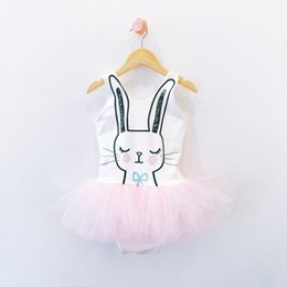 Wholesale Baby Sunsuit - Kids Baby Girls Bunny Ear Romper 0-24M Newborn Jumpsuit Tutu Dress Outfit Sunsuit Clothes