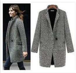 Wholesale Zipper Design Trench Coat - JAZZEVAR 2017 New Autumn High Fashion Women's Wool Blend Trench Coat Casual Long Outerwear Loose Clothing for lady