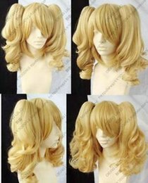 Wholesale Blonde Wig Pigtails Cosplay - Wig can hot dye>>>>Hot! New Blonde Mixed Cosplay Split -Type Wig And With 2 PigTails