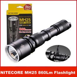 Wholesale Portable W Led Flashlight - NiteCore MH25 Hybrid 960 lumen LED Rechargeable Flashlight w  Charger & Battery