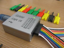Wholesale Benchtop Tools - USB Logic Analyzer with CLK OUT,Frequency Generator .100M max sample rate,16Channels,10B samples, MCU,ARM,FPGA debug tool