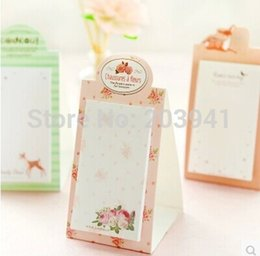 Wholesale Notepad Stand - Vintage Sweet Dream series Mini Standing notepad   DIY Multifunction message note Memo sticky   wholesale