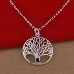 Wholesale Sterling Tree - 925 sterling silver necklace Korean version of the popular Green Tree necklace jewelry wholesale trade spot