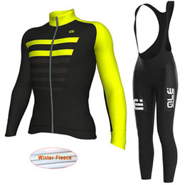 Wholesale Team Cycle Jersey Winter Woman - New pro team ale cycling clothing long sleeve cycling jersey winter thermal fleece road bike clothes mtb bicycle maillot ropa ciclismo k2702
