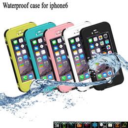 Прочный чехол для сотового телефона онлайн-Snowproof коробка водонепроницаемый сотовый телефон случае противоударный Грязь Снег доказательство прочный чехол отличная защита для Iphone Samsung ж / розничная упаковка
