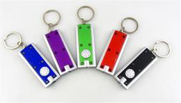 Wholesale keychain flashlight led bright - Safety Mini Pocket Keychain ABS Torch Tetris LED Light Flashlight Bright Hot Sale New Fashion Q0193