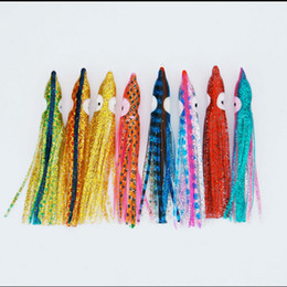 Wholesale Mixed Lures - lure fishing 9.5cm soft squid octopus skirt lure 30pcs bag mix color