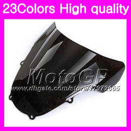 Wholesale Gsxr K2 - 23Colors Windscreen For SUZUKI GSXR1000 00 01 02 K1 GSXR 1000 GSX R1000 K2 2000 2001 2002 Chrome Black GPear Smoke Windshield