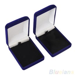 Wholesale Wholesale Cotton Filled Jewelry Boxes - Wholesale-Hot Sale Wedding Luxury Cotton Filled Necklace Jewelry Display Gift Box Boxes 1N6G