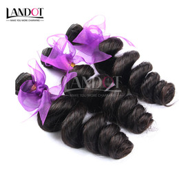 Wholesale Unprocessed Virgin Malaysian Loose Wave - Brazilian Loose Wave Virgin Human Hair Weaves Bundles Unprocessed Peruvian Malaysian Indian Mongolian Cambodian Loose Curly Wavy Remy Hair