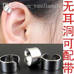 Wholesale Male Earring Pierce - Wholesale-1 piece DIY Hot Korean jewelry without pierced ear clip,ear buckle ear bone clip ,ear ring earrings for male and female