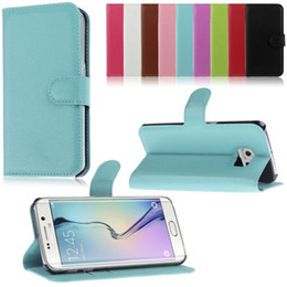 Wholesale Ace Flip Case - S6 Edge Wallet Flip PU leather Case With Card Slots Stand For Samsung Galaxy A3 A5 A7 Ace LTE Style G357 Note Edge N9150 Core Prime G360