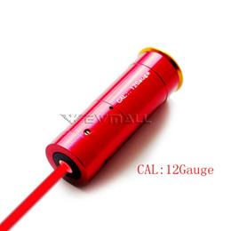 Wholesale 12 Bearing - 12 GAUGE 12 GA Cartridge Laser Bore Sighter Boresighter Red Sighting Shotgun 1pc