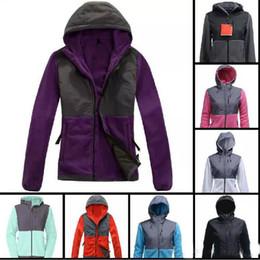 Wholesale Long Wool Jackets Women - Top Quality Winter Women Fleece Hoodies Jackets Camping Windproof Ski Warm Down Coat Outdoor Casual Hooded SoftShell Sportswear Black S-XXL