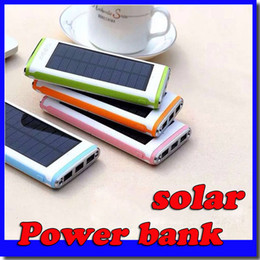 Wholesale Wholesale Solar Mobile Charger - 18000mAh The water cube mobile power bank Ultra-thin solar Power Banks 2A Output Cell Phone Portable Charger Free shipping