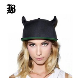 Wholesale devil hats - 2018 Fashion Men Womens Bones Gorras Snapbacks Whiteboard Little Devil Horns Ears Hip Hop Cap Baseball Caps Female Hats