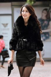 Wholesale Womens Long Winter Fur Coats - New Arrival Fashion Womens Girls Top quality Winter Faux rex rabbit Fur Long Sleeve Coat Body Slim Warm Faux Fur Outwear S-2XL WT18