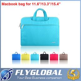 Wholesale Hp Laptop Bags China - Slim Laptop Travelling Handbag Sleeve Bag for Macbook Air Pro Retina 11 13 15 inch Dell HP Lenovo Computer PC Zipper Bags factory price